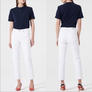 💙 AG the Isabelle high rise straight cropped 28